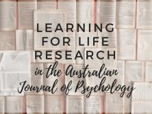 Learning For Life Research in the Australian Journal of Psychology