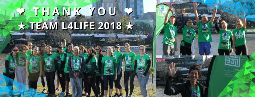 Thank you Team L4Life 2018
