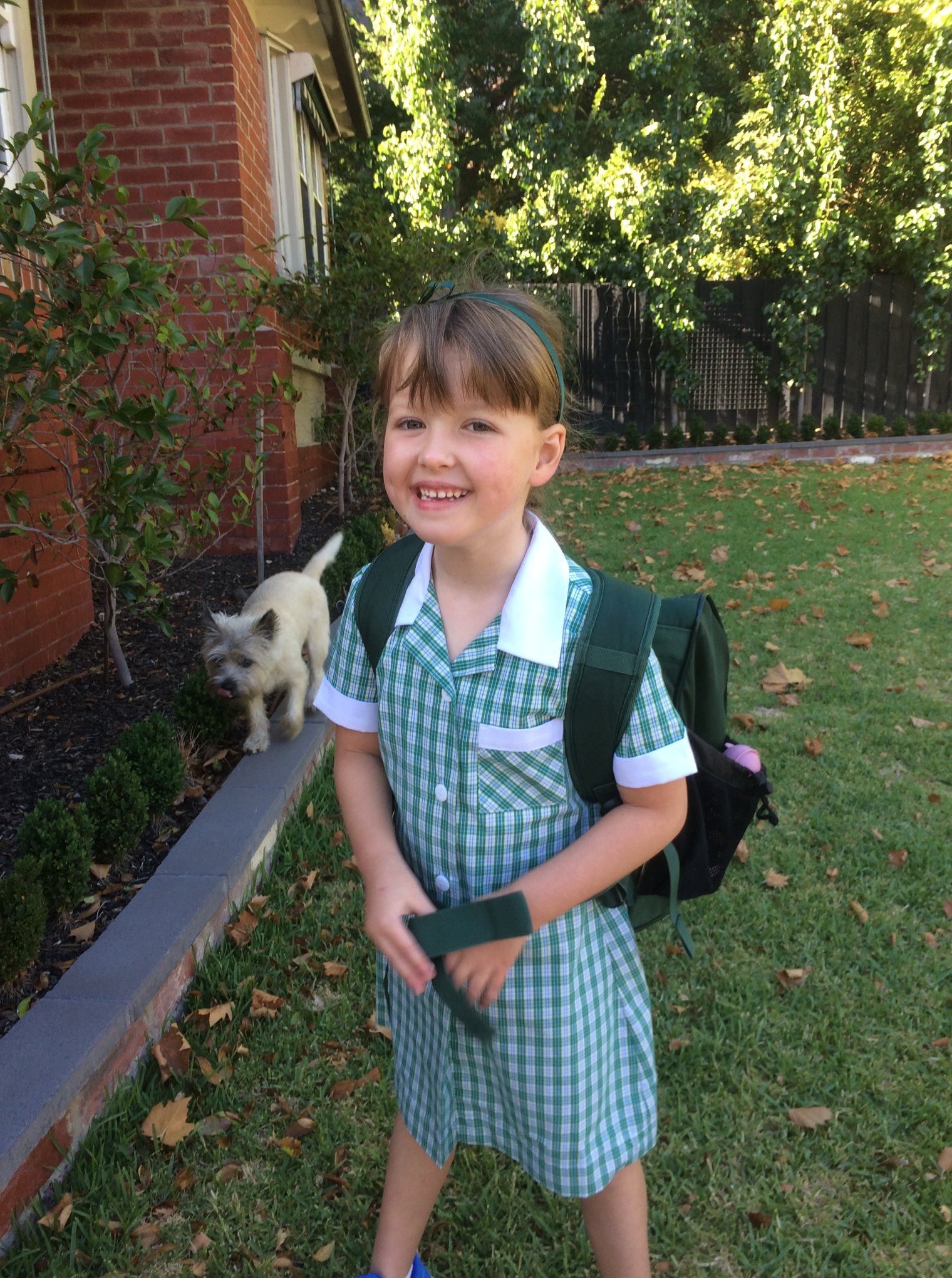 Clemmie's first day of school
