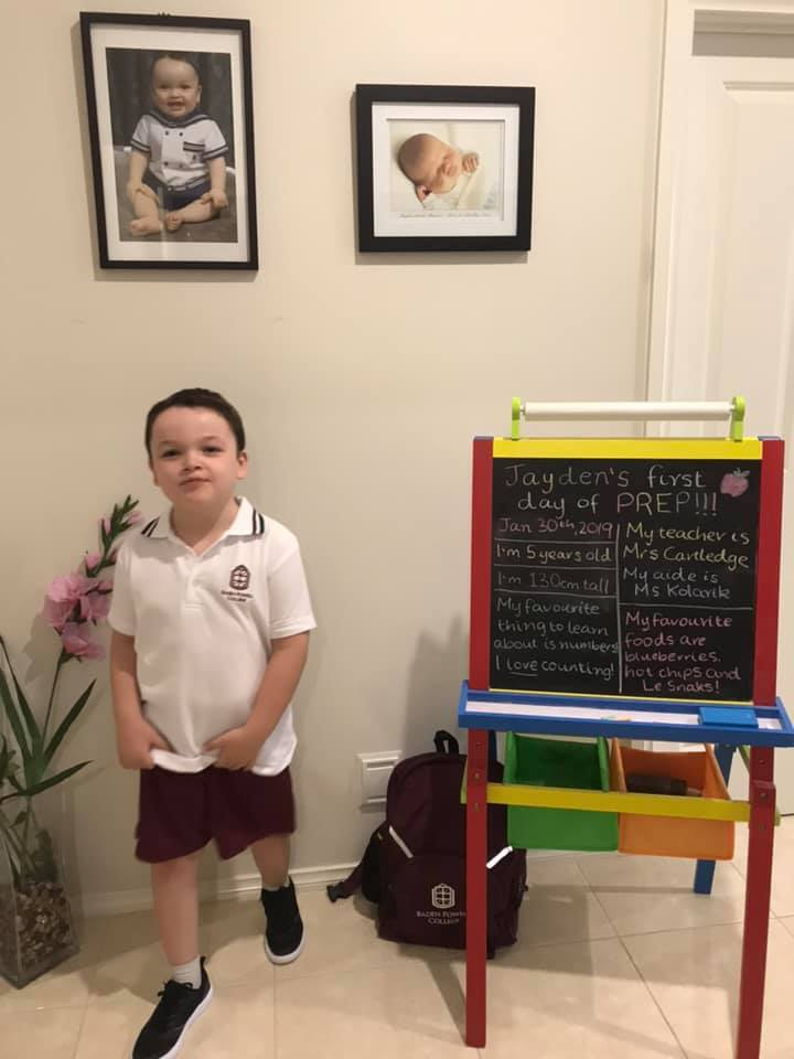 Jayden's first day of school