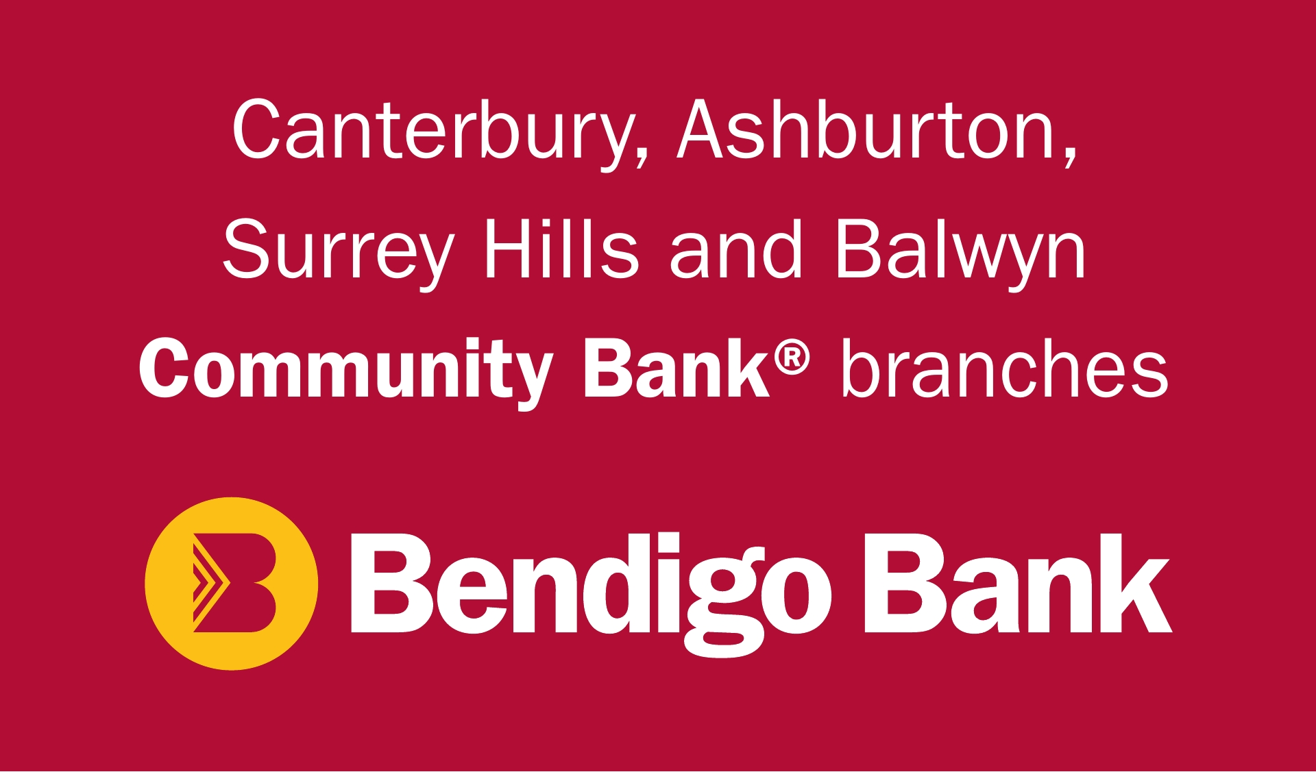 Sponsor logo - Bendigo Bank