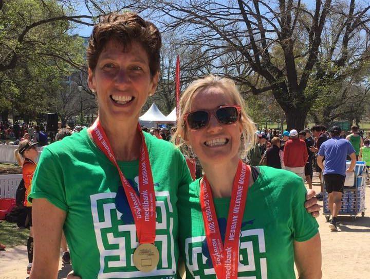 Therese & Linda marathon fundraiser 2017