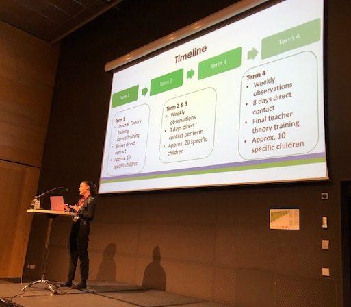 Sarah presenting in Stockholm 2019