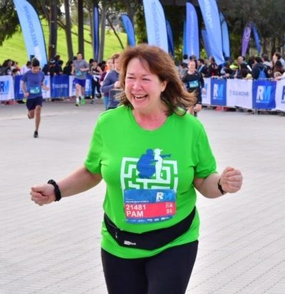 Pam at the finish line Run Melbourne 2019