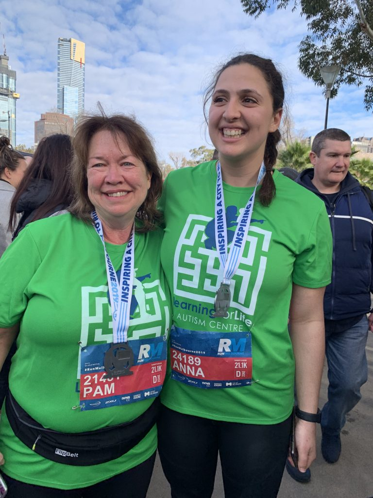 Pam & Anna finished at Run Melbourne 2019
