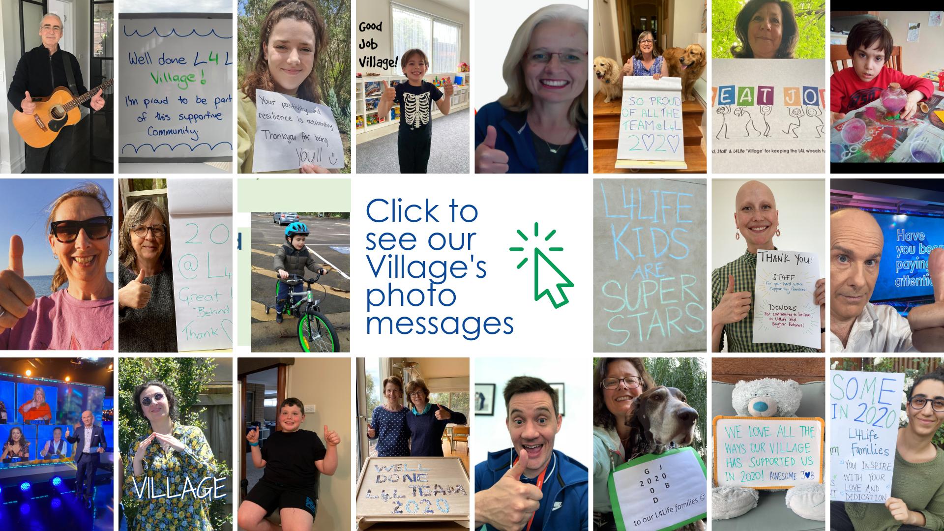 2020 Good Job Village - photos of messages