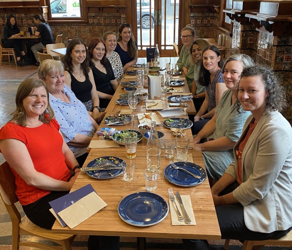 2021 - Carol's Farewell lunch with staff (February)