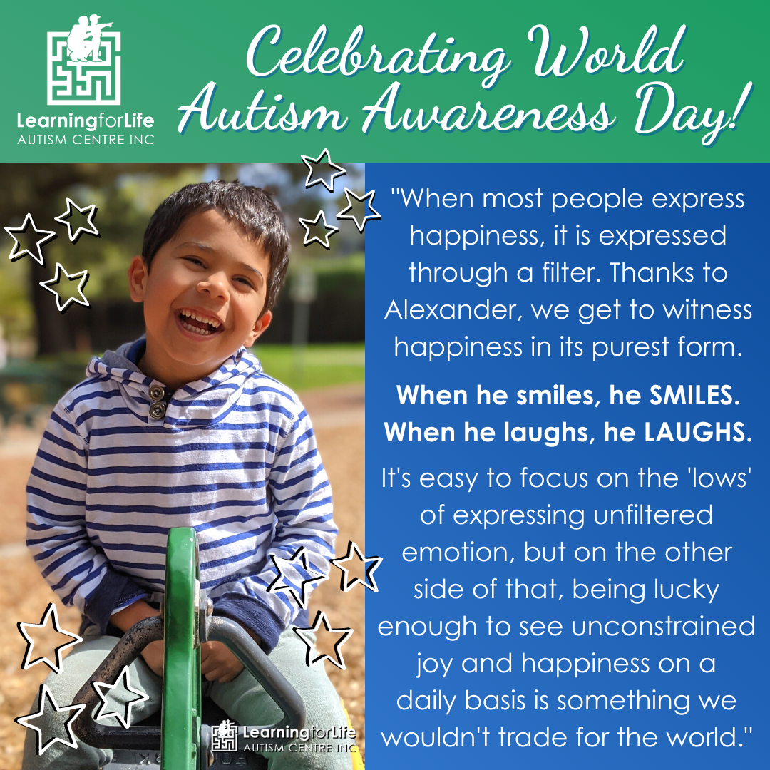 L4Life celebrates World Autism Awareness and Appreciation Day 2021 - featuring Alexander