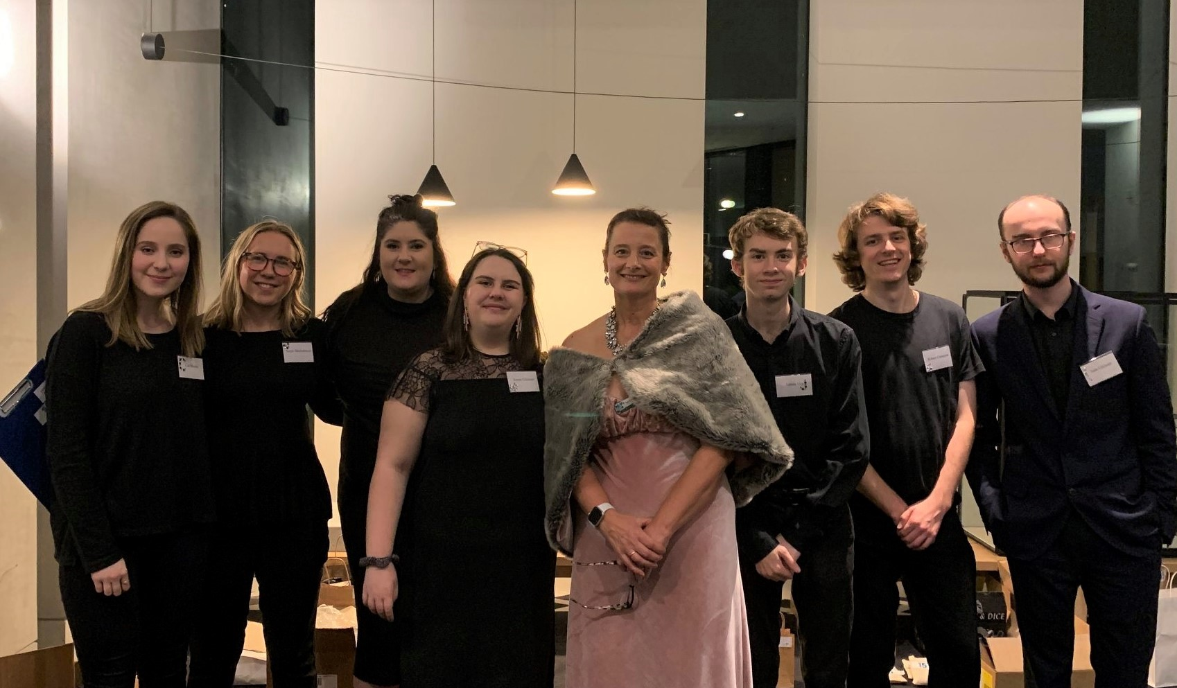 Sue O'Shea with the volunteers at The Learning For Life Autism Centre's Crystal Ball in May 2019.