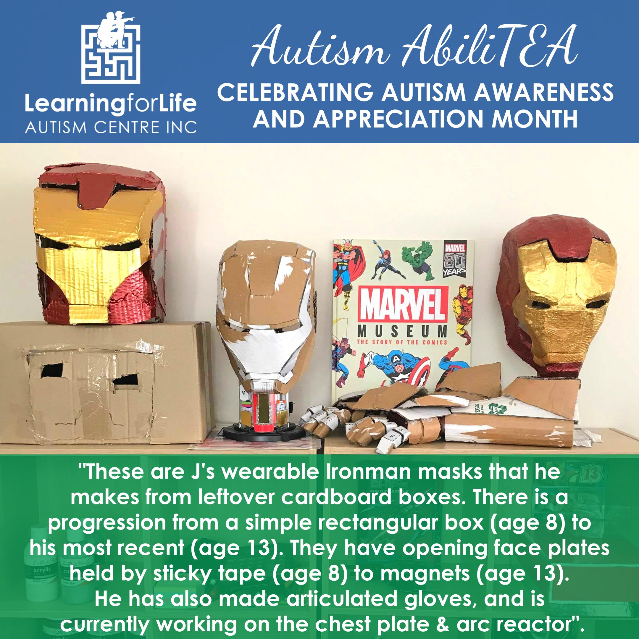 2021 L4Life's Autism AbiliTEA - ironman masks